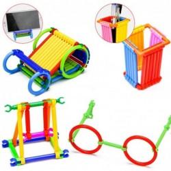 Plastic building blocks - sticks - creative construction toy - 500 pieces