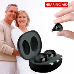 Hearing aid - invisible - rechargeable - USB - with charging box - 1 pair