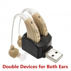 Hearing aid - ear sound amplifier - with double charging port - USB