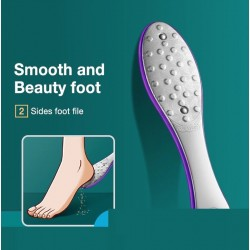 Professional pedicure set - double-sided file / pumice stone for feet - stainless steel