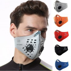 PM25 - protective mouth / face mask - double air valve - anti bacterial / anti pollution