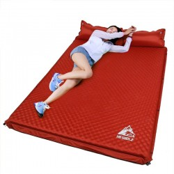 Outdoor / camping mat - inflatable tent mattress - with cushion pad - double