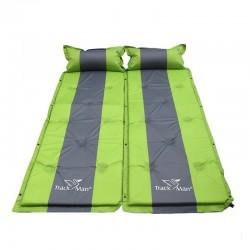 Single camping mattress - self-inflating - sleeping mat with pillow - waterproof