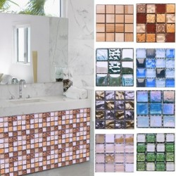 Mosaic style wall sticker - waterproof self adhesive tiles - 10 * 10 cm - 10 pieces