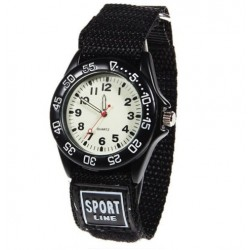 Military kids Quartz watch - fabric strap - waterproof