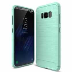 Samsung Galaxy S7 - S7 Edge - S8 -S8 Plus - Rubber Carbon Fiber TPU Brushed Rugged Cover Case