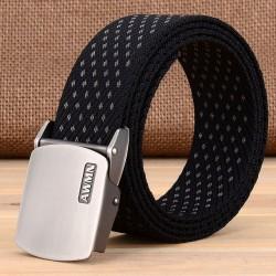 Pin Buckle Canvas Strap Men's Belt