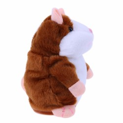 Plush talking hamster toy - moves - repeats what you say