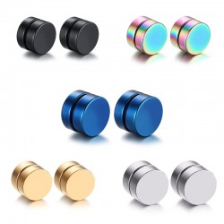 Stainless steel magnetic clip earrings - 5 pairs
