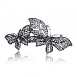 Double Butterfly Crystal Hair Clip Hairpin