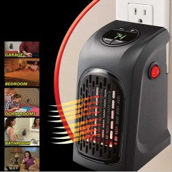 Electric mini heater - hot air - portable with wall plug