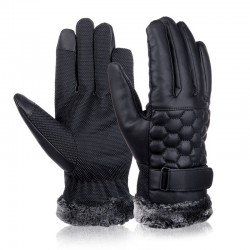 Retro thickened leather - touch screen - anti-skid gloves