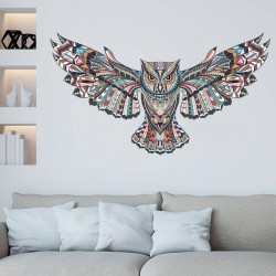 Colorful owl - removable - vinyl wall sticker