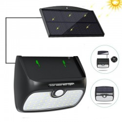 48 LED solar light with detachable solar panel - motion sensor - waterproof
