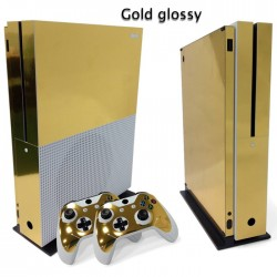 Xbox One S Console & Controller - vinyl decal - skin - sticker - gold