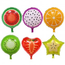 Fruit shape balloons birthday party decoration 6 pcs