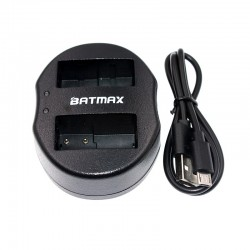 Dual USB battery charger for DMW-BLC12 DMWBLC12 BLC12 BLC12PP Panasonic Lumix FZ1000 FZ200 FZ300 G5