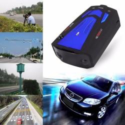 V7 16 LED display car anti radar laser detector speed voice alert warning