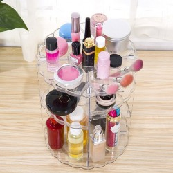 360 rotating detachable cosmetic makeup organizer