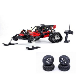 Rovan Baja305AS 1/5 2.4G RWD Snow Buggy RC car 30.5cc engine with tracked & round wheels RTR toy