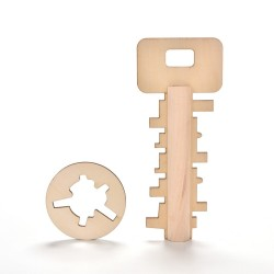 Wooden puzzle key toy