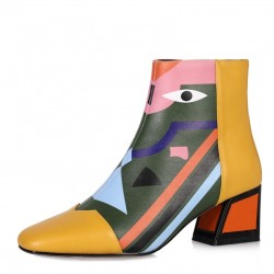 Fashion print - ankle boots