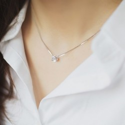 925 Silver necklace with zircon