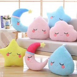 Star, cloud & water drop - soft pillow - plush toy