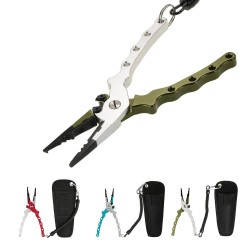 Fishing plier with bag - multi-functional tool for wire cutting & hook remover