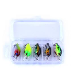 Artificial fish baits lure kit with hook 42g 5 pcs