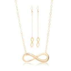 Lucky 8 - earrings & necklace - jewellery set