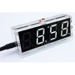 DIY electronic digital clock with thermometer - kit