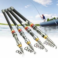 Telescopic carbon fiber fishing rod - 1.8m - 3.0m