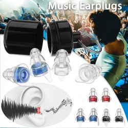 Anti-noise earplugs - reusable - with box - hearing protection - party plugs