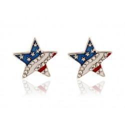 Crystal stars earrings - stainless steel