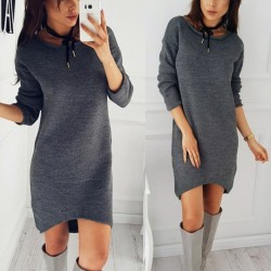 Winter - autumn pullover - loose dress