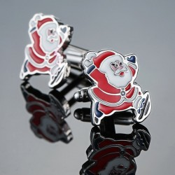 Christmas cufflinks with Santa Claus