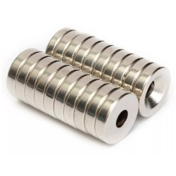 N50 Neodymium magnet - countersunk with 4 mm hole - 12 * 3 mm - 20 pieces