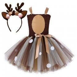 Santa's reindeer - girls costume - dress - set